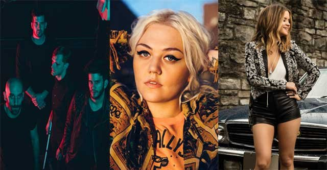 X Ambassadors [L], Elle King [C], Maren Morris [R] (Photos provided by Eastern States Expo.)