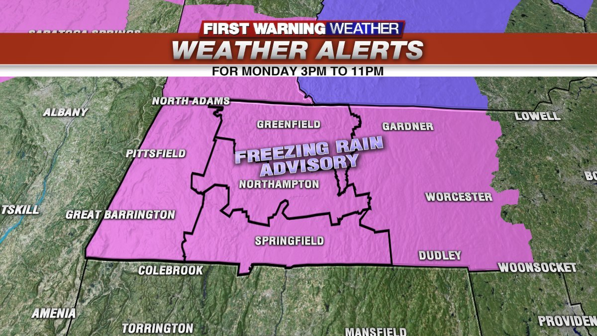 Freezing rain advisory part of Monday morning forecast
