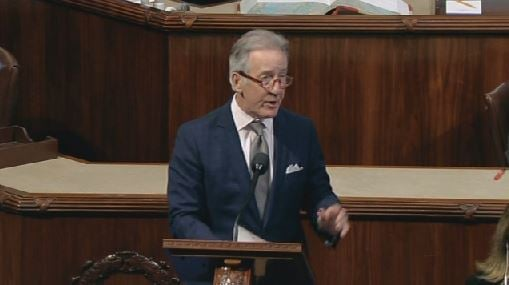 Rep. Neal speaks on the House floor on Mar. 24, 2017 (Photo from House TV)