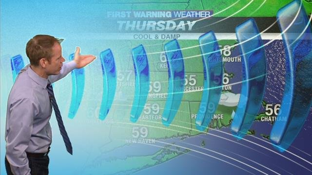 Partly to mostly cloudy, seasonable today