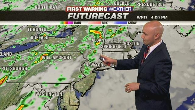 Mostly cloudy and warmer for Tuesday
