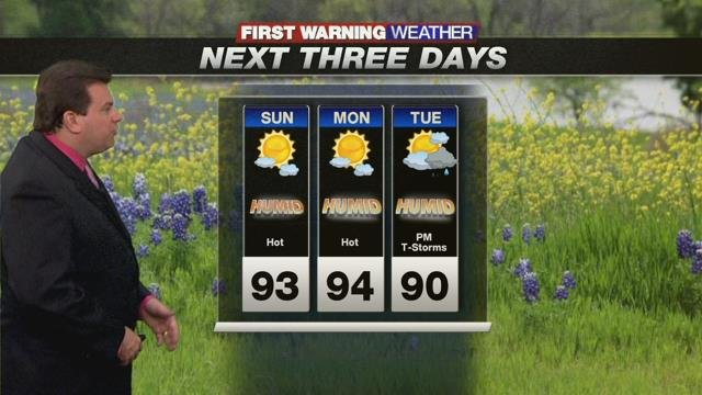 Heat & humidity here to stay; Rain chances gradually increase