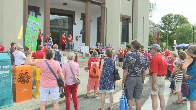 Healthcare replacement bill protested at Northampton City Hall