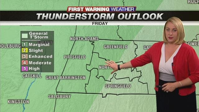 Showers and storms back Friday