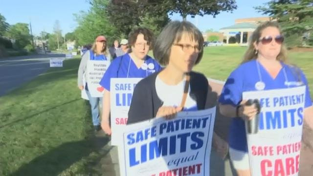 Baystate Franklin nurses on-strike