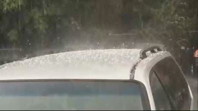 VIDEO: Hail hits western Massachusetts