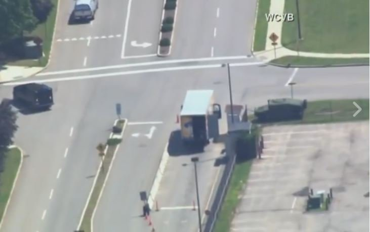 Massachusetts Air Force base open after suspicious truck cleared