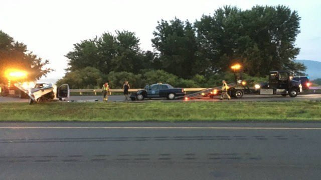 State troopers pull suspect from burning vehicle after chase
