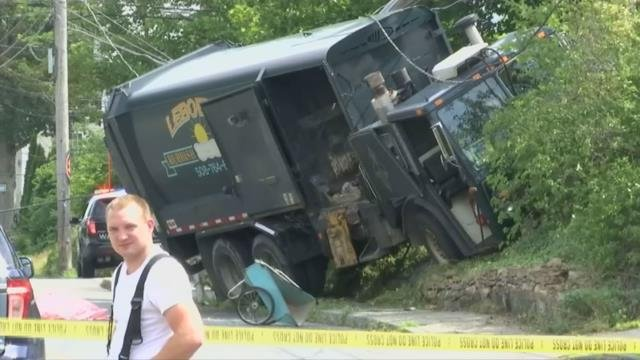 Man dead after being hit by garbage truck in Ware
