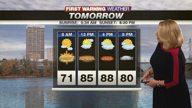 Heat and humidity ease over the weekend