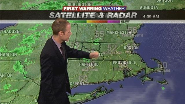 Cloudy and cool with a few light showers today
