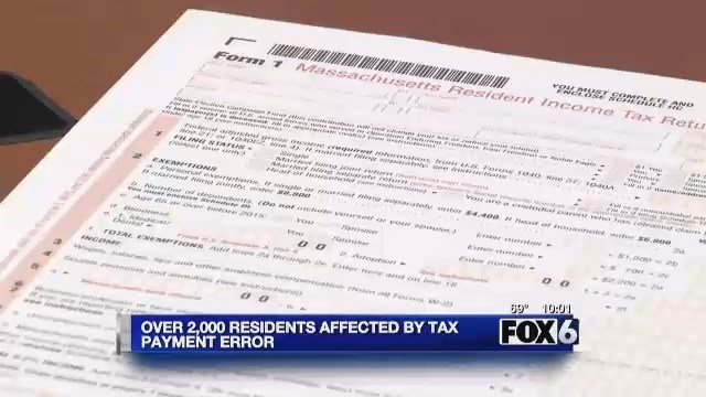 State; Over 2,000 MA residents affected by tax payment error