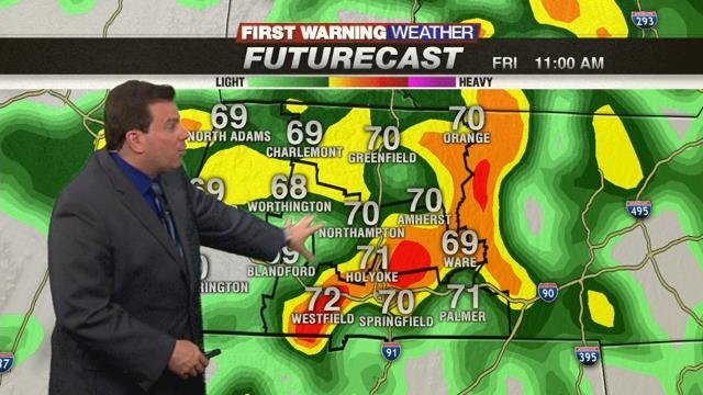 Forecast: 40 percent chance of morning showers, thunderstorms