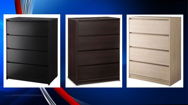 Target recalls drawer dresser due to tip-over hazard