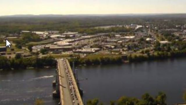 (Western Mass News skycam photo of the Memorial Bridge)