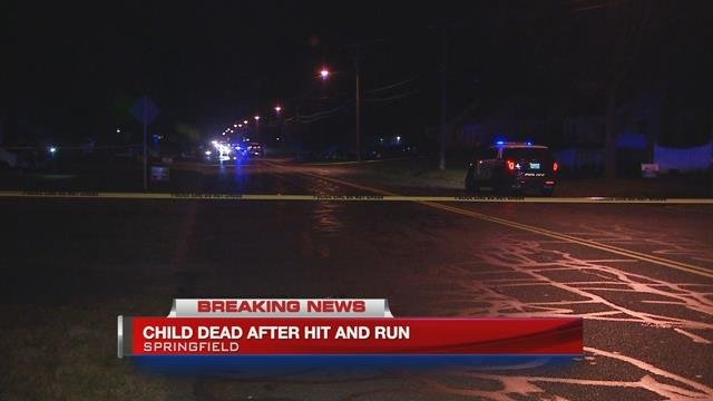 A child has died after hit and run in Springfield