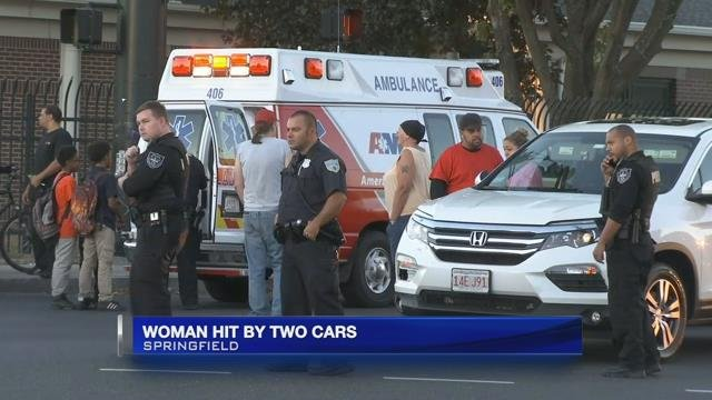Woman seriously injured after being hit by two vehicles in Springfield