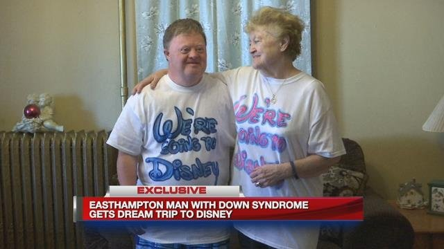 Easthampton man with Down syndrome gets dream trip to Disney