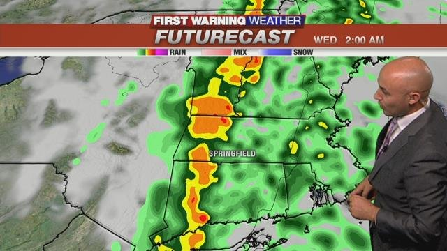 Heavy rain and strong winds expected for Tuesday