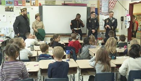 Dauphin Junior High School holds Veterans' Day program