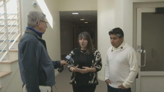 Guatemalan immigrant who has taken refuge in Amherst hopeful about his future