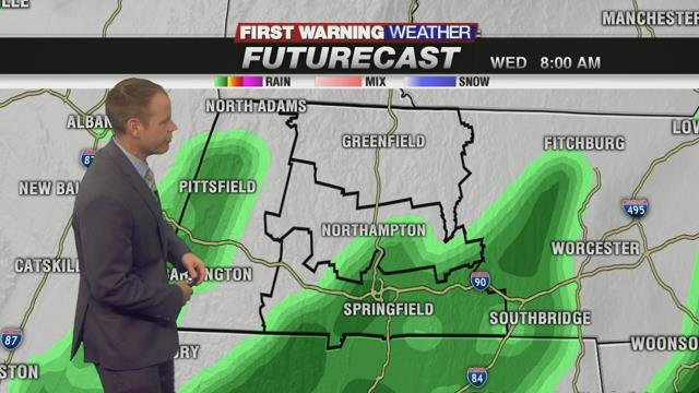 Rain this morning moves out by early afternoon
