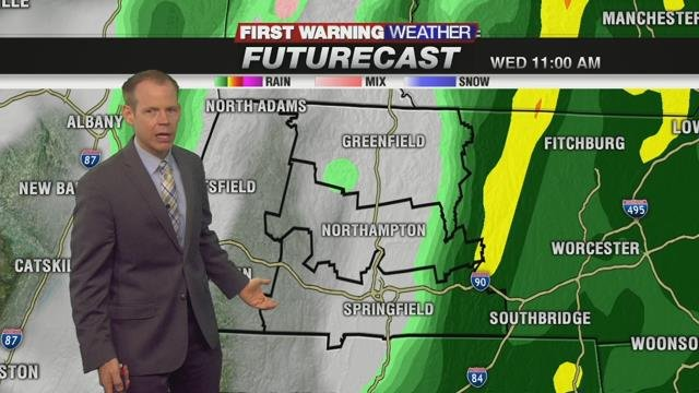 Rain to start travel day Wednesday