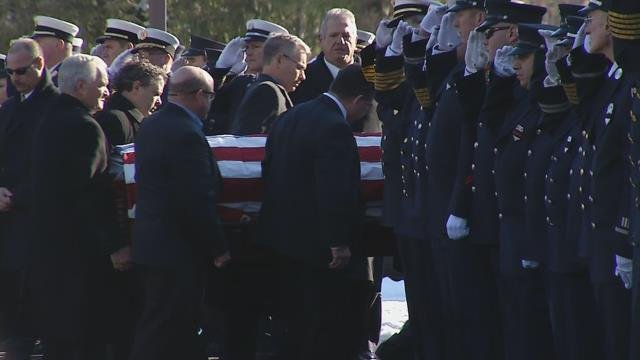 Family, friends gather to offer final farewell to Montgomery's fire chief