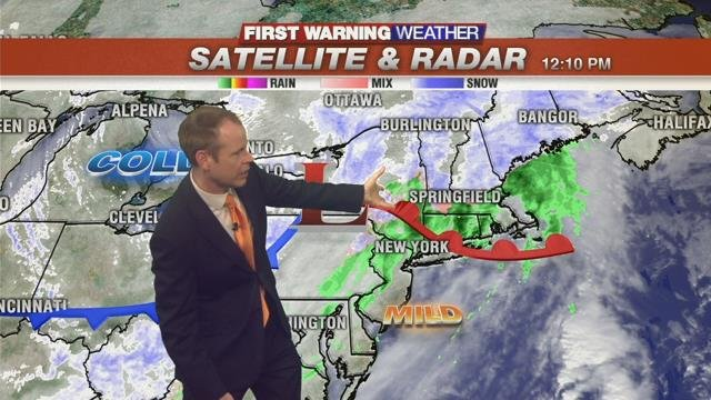 Rainy mix in greater Springfield with accumulating snow for some