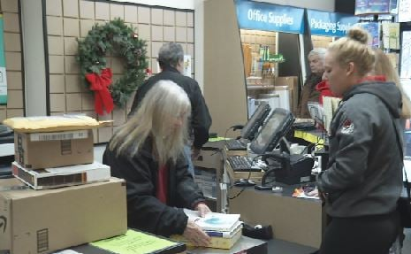 Christmas seasons, and this is the postal service's busiest
