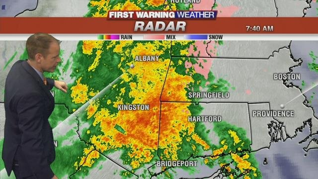 Heavy rain moving through with ice still an issue