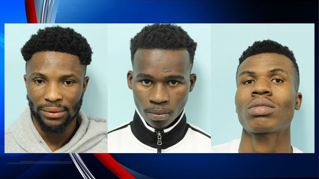 [L-R] Hanson Adjei, Abdullahi Issak, and Mohamed Liban (Photos provided by Springfield Police)