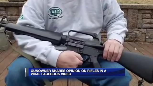 Gun owner shares opinion on rifles in viral video