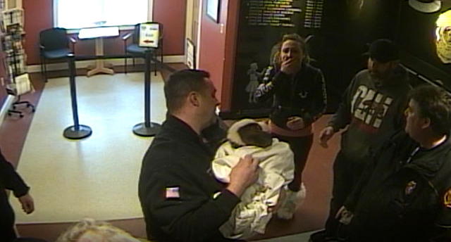 Incredible footage shows United States cops saving choking Saint Bernard puppy using CPR