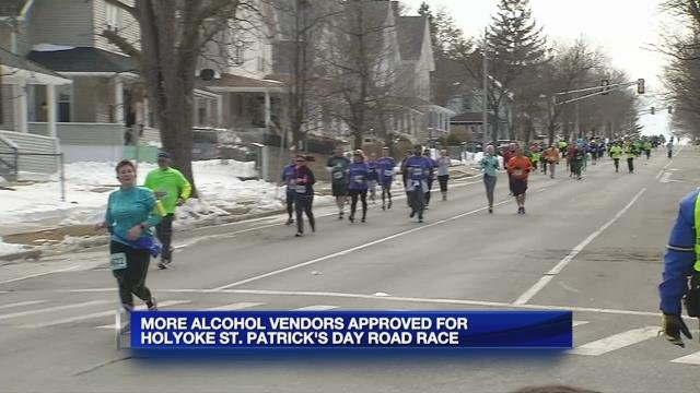 More alcohol vendors approved for Holyoke St. Patrick's Day Road Race