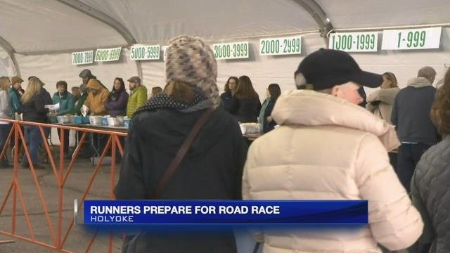 Runners prepare for Holyoke St. Patrick's Day Road Race