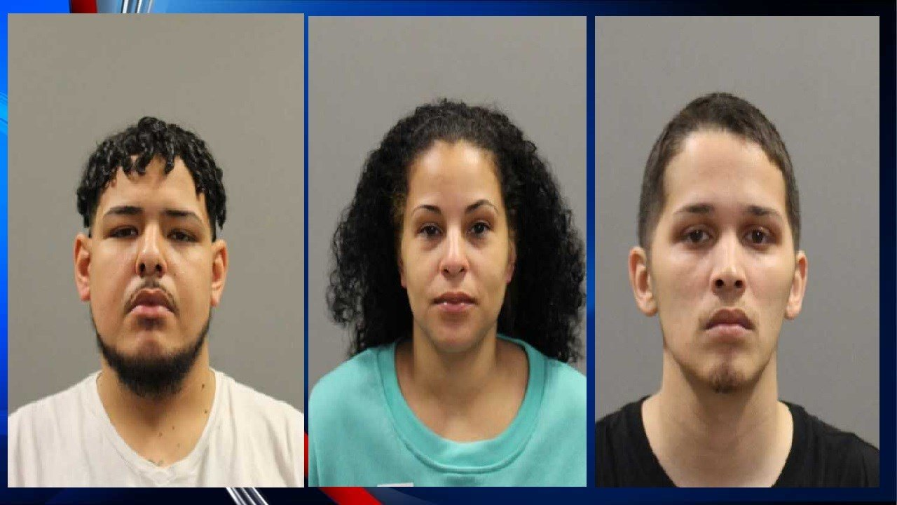 Pictured from left to right: Abimael Rivera, Justine Walter, Adiel Velez (Image Courtesy: Holyoke PD)