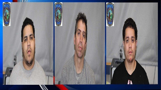 Pictured from left to right: Jonathan Martinez, Robert Melling, Ruben Torres (Image Courtesy: Ludlow PD)