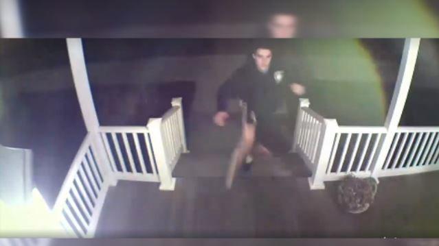 (photos from surveillance video, courtesy Longmeadow Police Department)