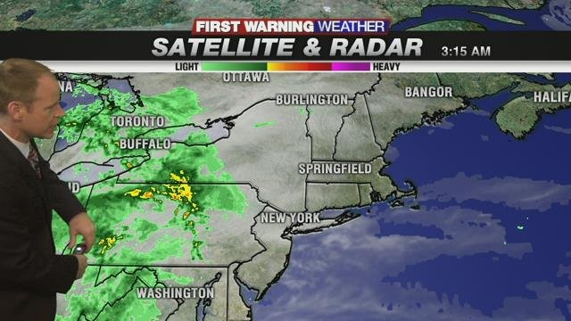 Showers this afternoon but then nice stretch
