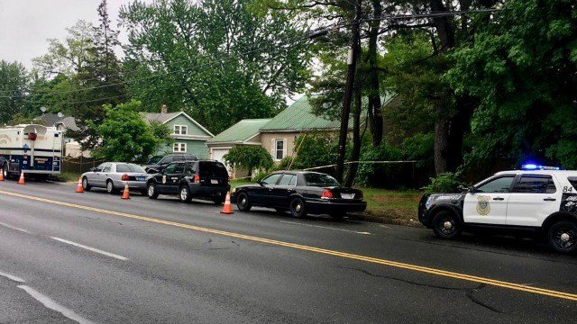 Police remain on-scene on Page Blvd. (Western Mass News photo)