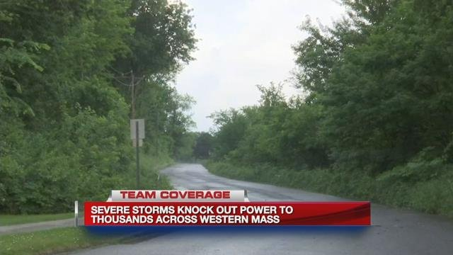 Thousands left without power after storms roll through