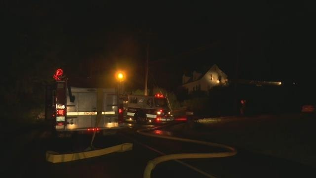 Lightning strike sparks house fire in Southwick