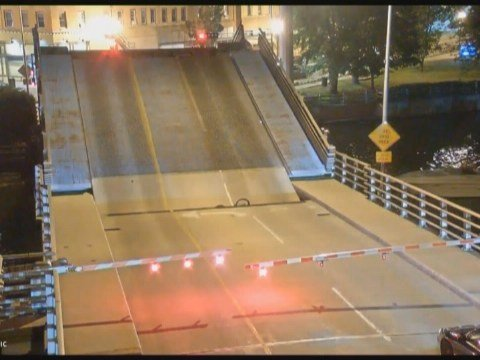 Caught on Camera: Bicyclist falls into drawbridge