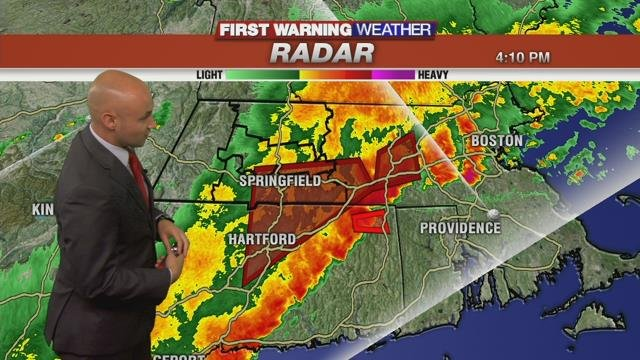 Flash flooding reported as heavy storms move through western Mass
