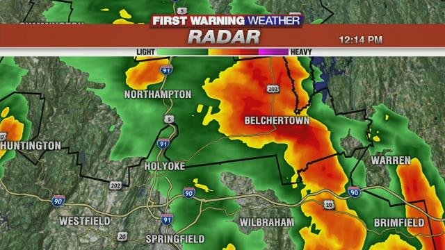 Heavy downpours and storms rolling through the area