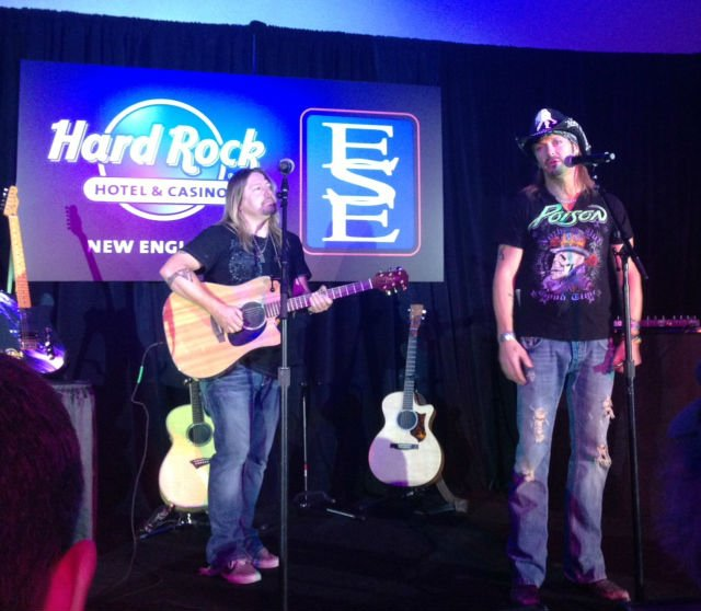 Bret Michaels performs prior to the announcement