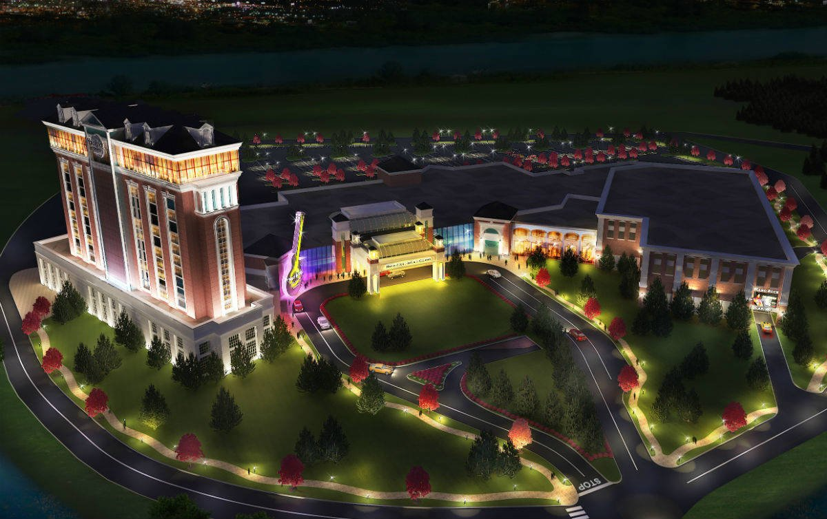 Rendering of Hard Rock New England casino