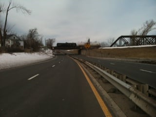 Route 5 was shut down between the Memorial Bridge and North End Bridge.