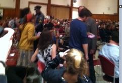 UMass police escort protestors from auditorium